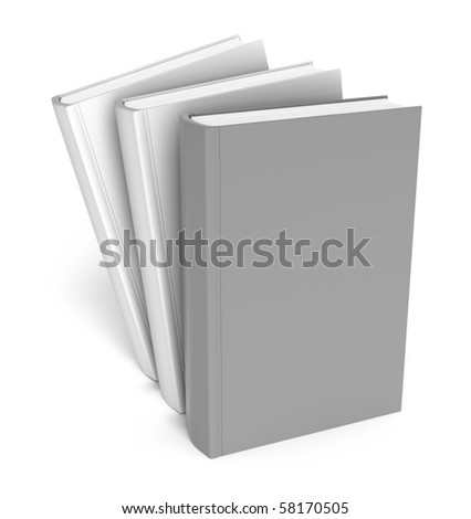 Books over white. Clear cover