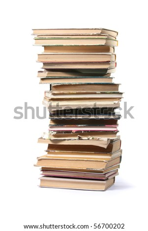 books pile - stock photo