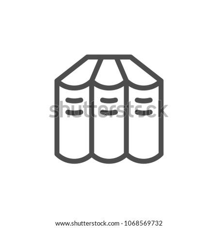 Books set line icon isolated on white