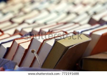 Books Shelf inside a library #772191688