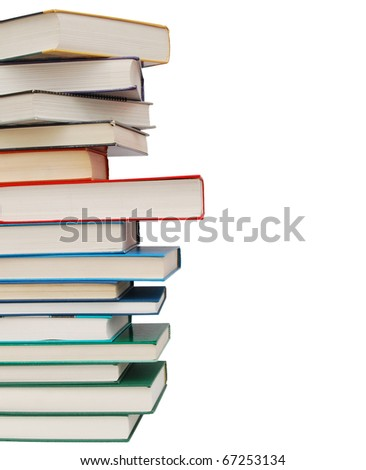 Books stack background