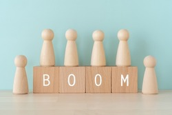 BOOM; Wooden blocks with