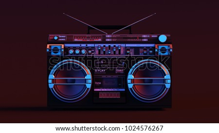 Boombox 3d illustration
