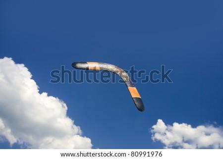 Boomerang in flight