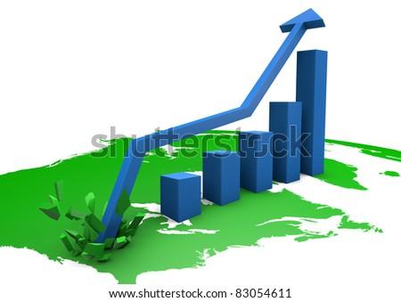 booming bar graph on america