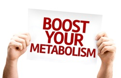 Boost Your Metabolism card isolated on white background