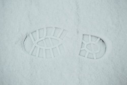 boot footprint in the snow