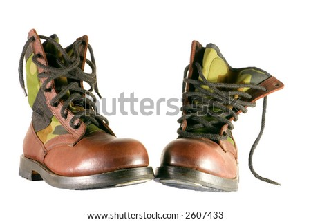 boot isolated in white background