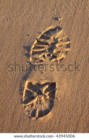 Boot print in the sand