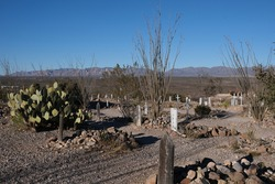 BootHill Grave Yard, Tombstone AZ.  It was the burial place for the town's first pioneers and was used until around 1884.  Many violent deaths of the early days.  Buried here are outlaws and victims.