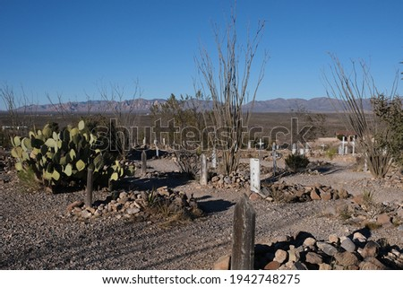 BootHill Grave Yard, Tombstone AZ.  It was the burial place for the town's first pioneers and was used until around 1884.  Many violent deaths of the early days.  Buried here are outlaws and victims. Foto stock ©