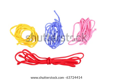 bootlaces isolated object an white background