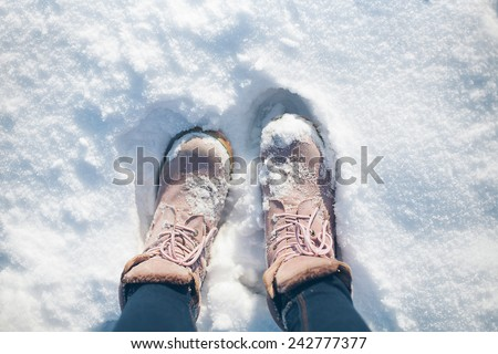 Boots in the snow #242777377