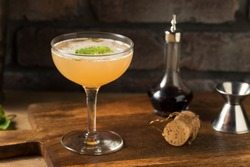 Boozy Refreshing Old Cuban Cocktail with Rum Lime and Champagne