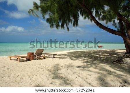 Bora Bora Island - Society Islands - French Polynesia - Southern Pacific - stock photo