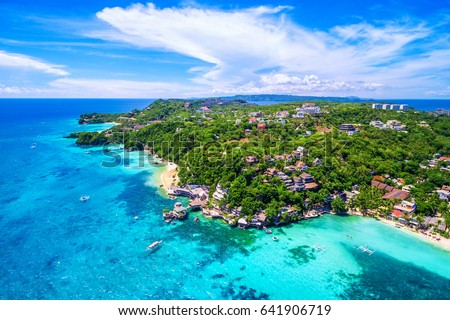 Photo of  Boracay Island aerial view, Western Visayas, Philippines.