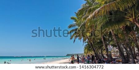 Boracay / Philippines - 04 24 2019: White beach Boracay  #1416304772