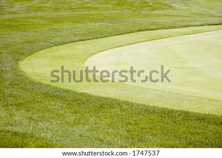 Borda curvada do verde do golf - stock photo