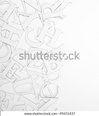 border background of letters on white #49655437