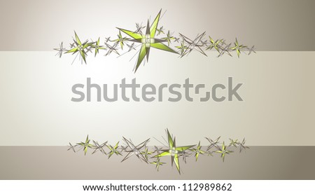 Border with thorns