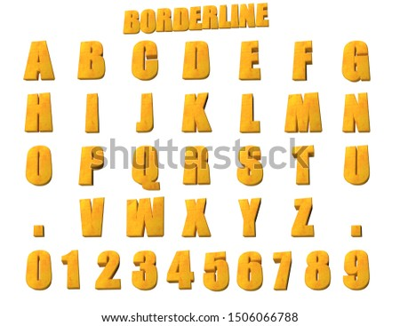 Borderline Alphabet - 3D Alphabet