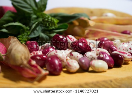 Borlotti beans, also called dwarf beans, are a variety native to South America