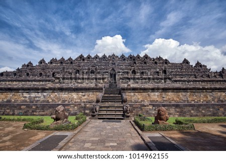 Borobudur tample view