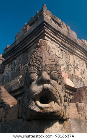 Borobudur temple at sunny morning. Central Java, Indonesia