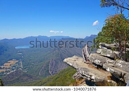 Boroka lookout in the Grampians national park in Victoria Australia  Stock photo ©