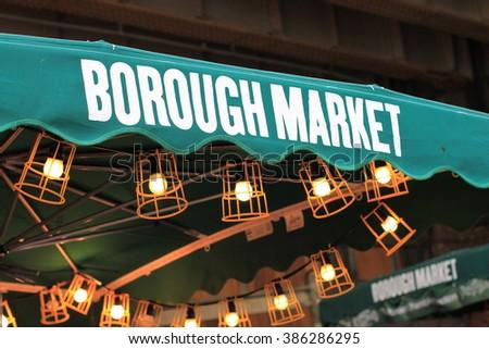 Borough market. Street food market. Outdoor. Сток-фото ©