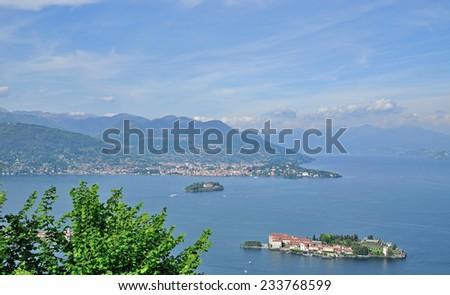 Borromean islands with Isola Bella,Lake Maggiore,Piedmont,italian Lakes,italian Lake District,Italy