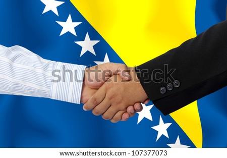 BOSNIA AND HERZEGOVINA,businessmen handshake