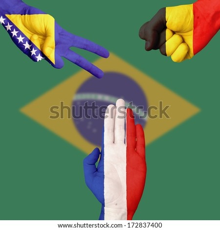 Bosnia Belgium France  Rock-Paper-Scissors #172837400