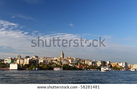 Bosphorus and Galata Tower, Istanbul, Turkey