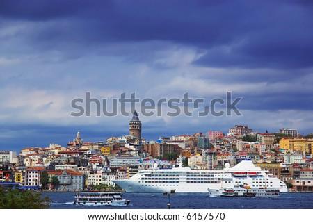 Bosphorus and Galata Tower, Istanbul, Turkey