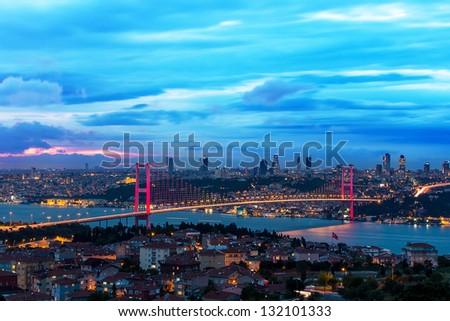 Bosphorus Bridge - stock photo
