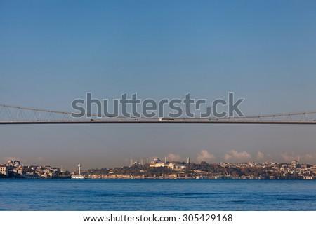 Bosphorus Bridge and old peninsula