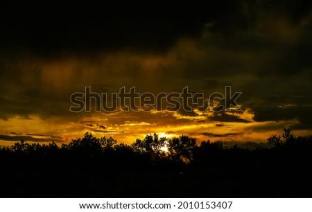 Bosque Sunset over Rio Grande River, Albuquerque, New Mexico Foto stock ©