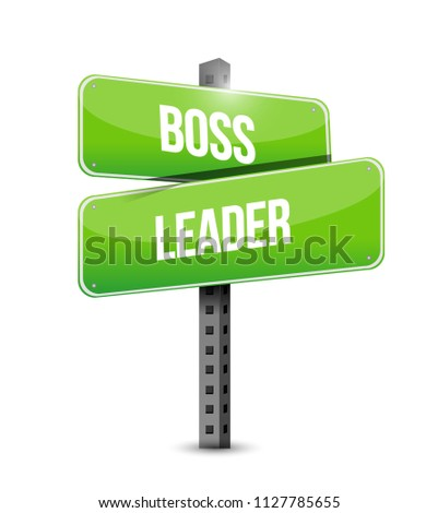 boss or leader sign. bussiness concept illustration. isolated over a white background