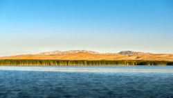 Bosten Lake, a plateau freshwater lake, is located in Xinjiang Uygur Autonomous Region of China. It is the largest inland freshwater lake in China.
