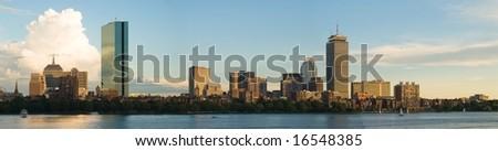 Boston Back Bay panorama - stock photo