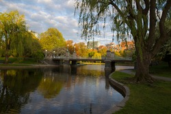 Boston Commons evening spring landscape