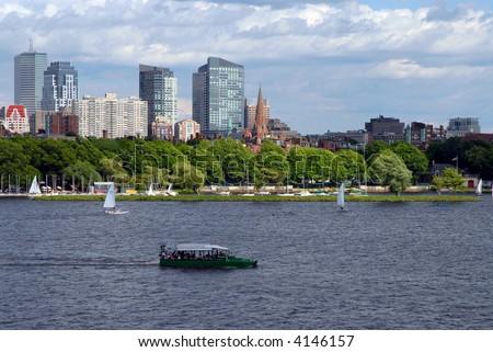 Boston Duck Tour and Sailboats