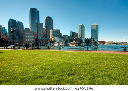 Boston Harbor in Boston, Massachusetts - USA.