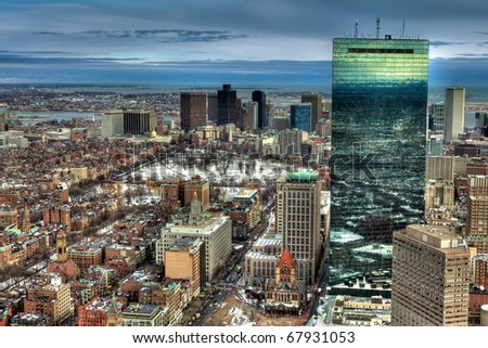 Boston in the winter season.