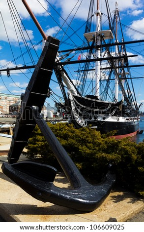 BOSTON - JANUARY 20: Launched in 1997, The USS Constitution is the world's oldest commissioned naval vessel afloat. It is seen on this photo taken on January 20, 2011 in Boston, MA