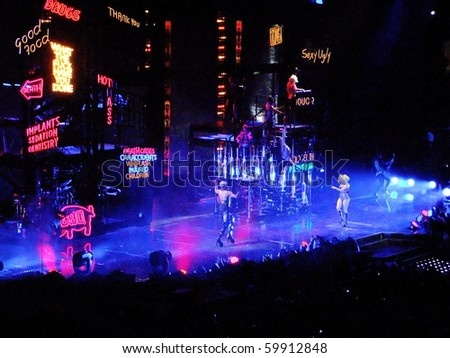 BOSTON- JULY 3 : Lady Gaga performs in the Monster Ball World Tour concert on July 3, 2010 in Boston, Massachusetts