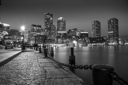 Boston Massachusetts, Skyline. Black & White