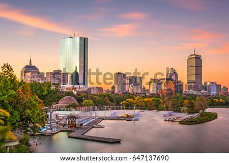 Boston, Massachusetts, USA skyline at dawn. Stock fotó ©