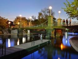 Boston Public Garden at Night